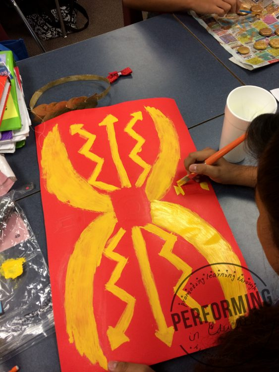 A photograph of inquiry projects about Ancient Rome