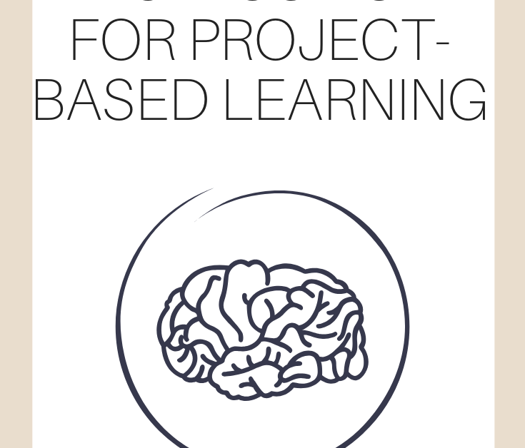 """A vertical graphic with a tan and white background with text that says """"Differentiated Instruction for Project-based Learning"""" on it"""