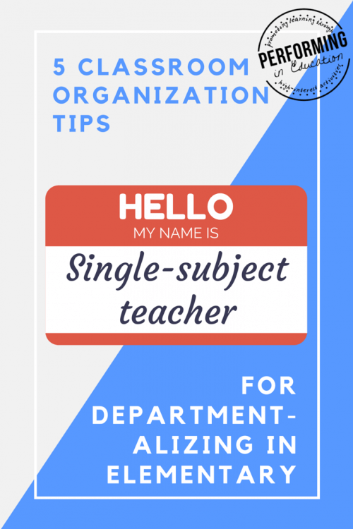 5 Departmentalizing Tips