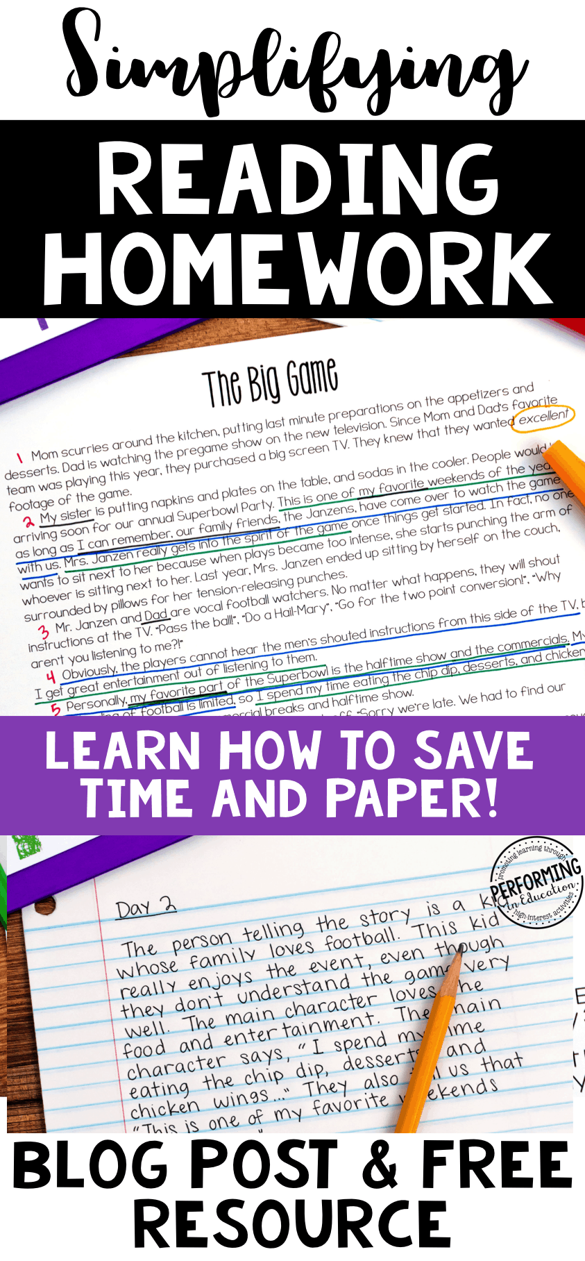 Save paper with this awesome spiral reading homework for grades 4 and 5!